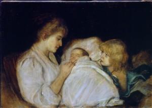 Magdalena von Lenbach mit Töchtern Erika und Marion ⋅ 1895 Image