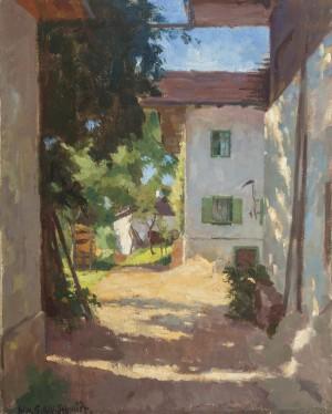 Bauernhof in Gollenshausen am Chiemsee ⋅ um 1930 Image
