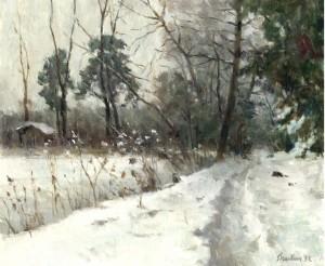 Winter (Weg beim Fischer am See) ⋅ 1992 Image