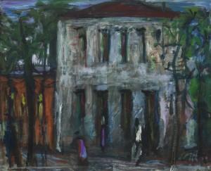 Südliches Haus bei Nacht ⋅ um 1975 Image