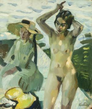 Am Ufer IV (Malmodell Toni Hasch und ihre Schwester Mina in Hartmannsberg) ⋅ 1911 Image