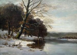 Seeufer im Winter ⋅ um 1930 Image