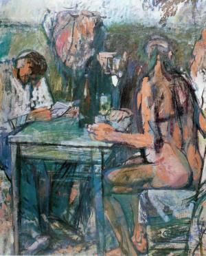 Tischgesellschaft mit Kuh ⋅ 1960 Image