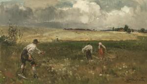 Mäher bei aufziehendem Gewitter ⋅ 1914 Image