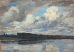 Wolkenstimmung am Chiemsee ⋅ um 1903 Image