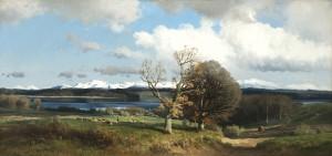 Blick auf den Simssee zu Anfang des Frühlings ⋅ um 1880 Image