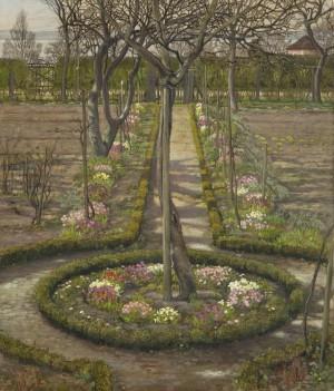 Garten im Vorfrühling ⋅ 1910 Image