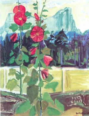 Große Malve mit Hörndl ⋅ um 1940 Image