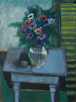 Anemonen auf blauem Tisch ⋅ 2007 Image