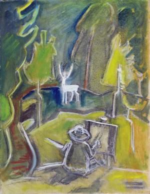 Der Maler im Wald Image