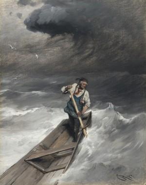 Vom Sturm überrascht ⋅ 1890 Image