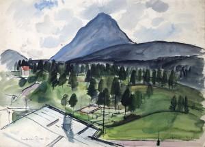 Hohe Munde bei Seefeld in Tirol ⋅ 1932 Image