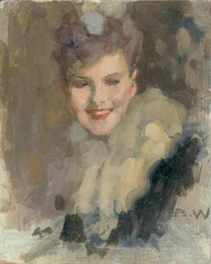 Mädchen mit Pelzkragen ⋅ um 1945 Image