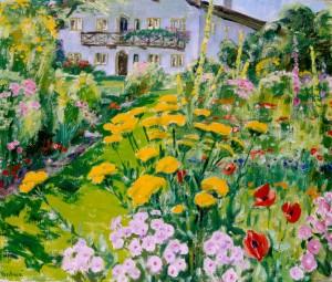 Bäuerlicher Garten mit Schafgarbe ⋅ 1961 Image