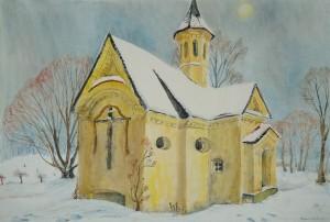 Kreuzkapelle auf der Herreninsel ⋅ nach 1950 Image