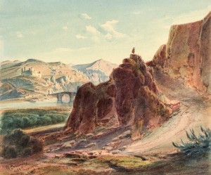 Spanische Landschaft mit Wächter ⋅ 1853 Image