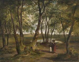 Buchenwald am Ganszipfel (Chiemsee) ⋅ 1843 Image