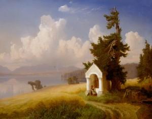 Rastendes Bauernmädchen am Chiemsee ⋅ um 1850 Image