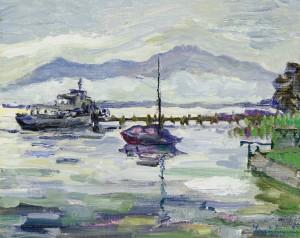 Ankunft des Dampfers auf der Fraueninsel ⋅ 1980 Image