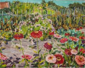 Bauerngarten mit Zinnien ⋅ um 1950 Image