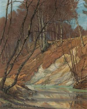 Stiller Fluss (Abhang an der Prien im Vorfrühling) ⋅ 1913 Image