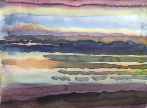 Landschaft mit horizontalem Wolkenhimmel ⋅ 1985 Image