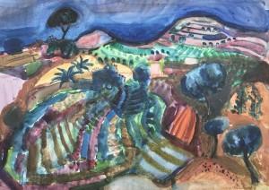 Gartenlandschaft bei Scirocco Wind ⋅ 1958 Image
