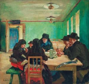 Bauernfamilie beim der Brotzeit ⋅ um 1915 Image