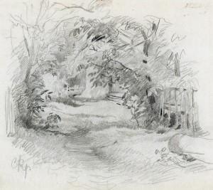 Gartenecke auf der Fraueninsel ⋅ um 1890 Image