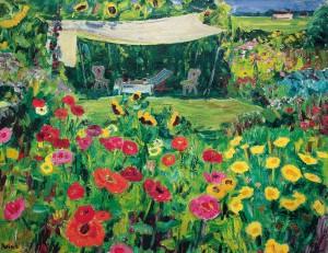 Garten am Haus ⋅ um 1950 Image