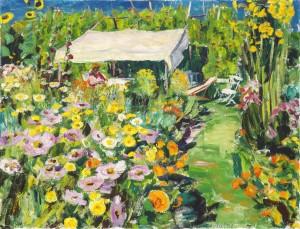 Zelt im Garten (Feldwies) ⋅ um 1945 Image