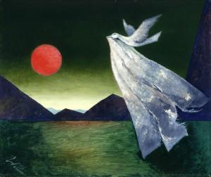 Vogel über der Landschaft ⋅ um 1970 Image