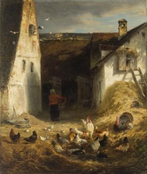 Hühnerhof im Dachauer Land ⋅ um 1872 Image