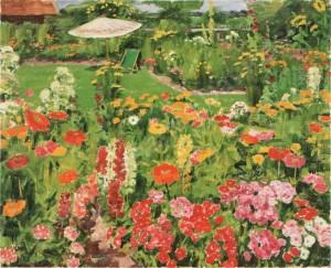 Sommerlicher Garten ⋅ um 1950 Image