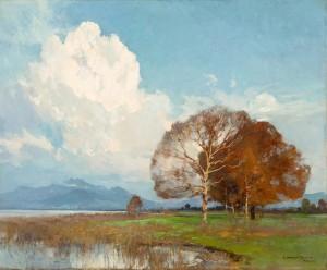 Herbst am Chiemsee ⋅ um 1920 Image