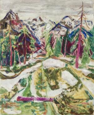 Schneeschmelze am Dürnbachhorn, Chiemgauer Alpen ⋅ 1947 Image