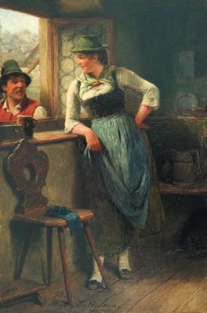 Bursch und Mädel am Fenster ⋅ 1898 Image