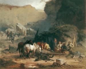 Pause im Steinbruch ⋅ 1869 Image