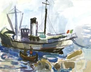 Das Wasserschiff von Sant' Angelo, Ischia ⋅ 1956 Image