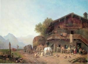 Wirtshaus im Gebirge ⋅ um 1860 Image