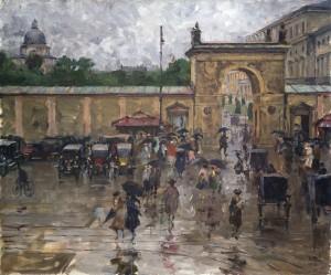 München - Odeonsplatz im Regen ⋅ 1923 Image