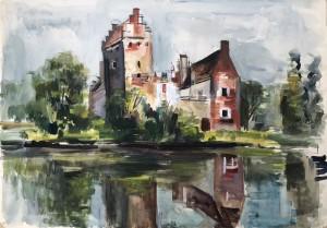 Wasserschloss in Reichertshausen (Pfaffenhofen an der Ilm) ⋅ um 1938 Image
