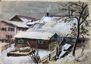Winterlandschaft (Dorf bei Wasserburg am Inn) Image