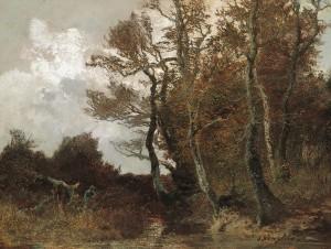 Moorlandschaft mit Jägern ⋅ um 1880 Image