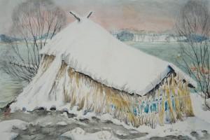 Urfahrn - Unser Boot im Winterkleid ⋅ nach 1950 Image