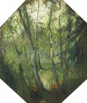 Birken im Frühling ⋅ um 1930 Image