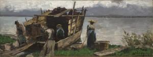 Beim Torfabladen ⋅ 1899 Image