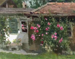 Rosen am Niggl-Zuhäusl auf der Insel ⋅ um 1980 Image