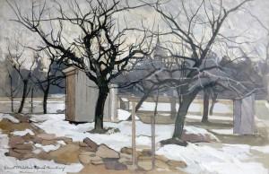Obstgarten im Februar ⋅ um 1955 Image