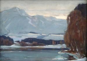 Winter vor den Bergen ⋅ um 1925 Image